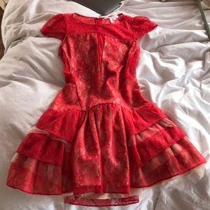 BCBG Coral lace cut out dress